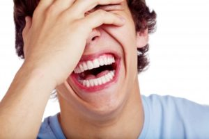 close-up of guy laughing