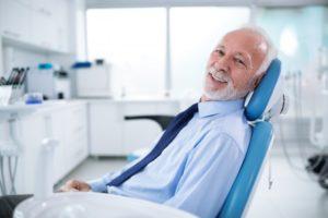 older man visiting dentist in El Reno